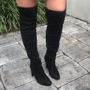 95eefc180b03 Maddy Shoes | Mandy Faux Suede Over The Knee Boots | Poshmark